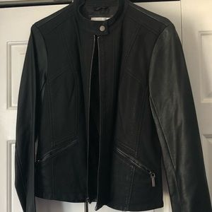 Leather Moto Jacket (Faux)